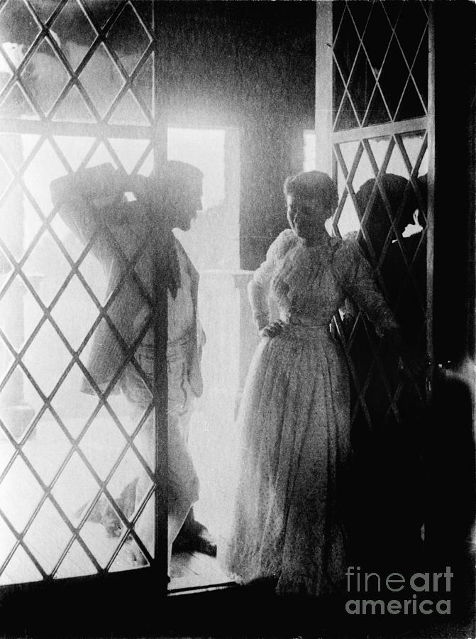 19th Century Photograph - Couple In Doorway by Granger