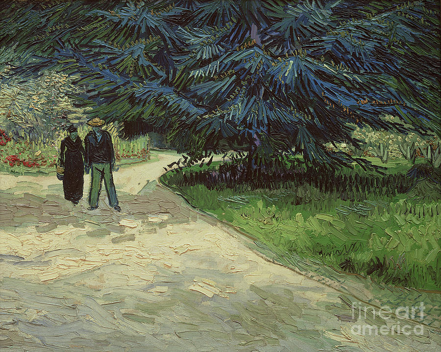 Couple Painting - Couple in the Park by Vincent Van Gogh