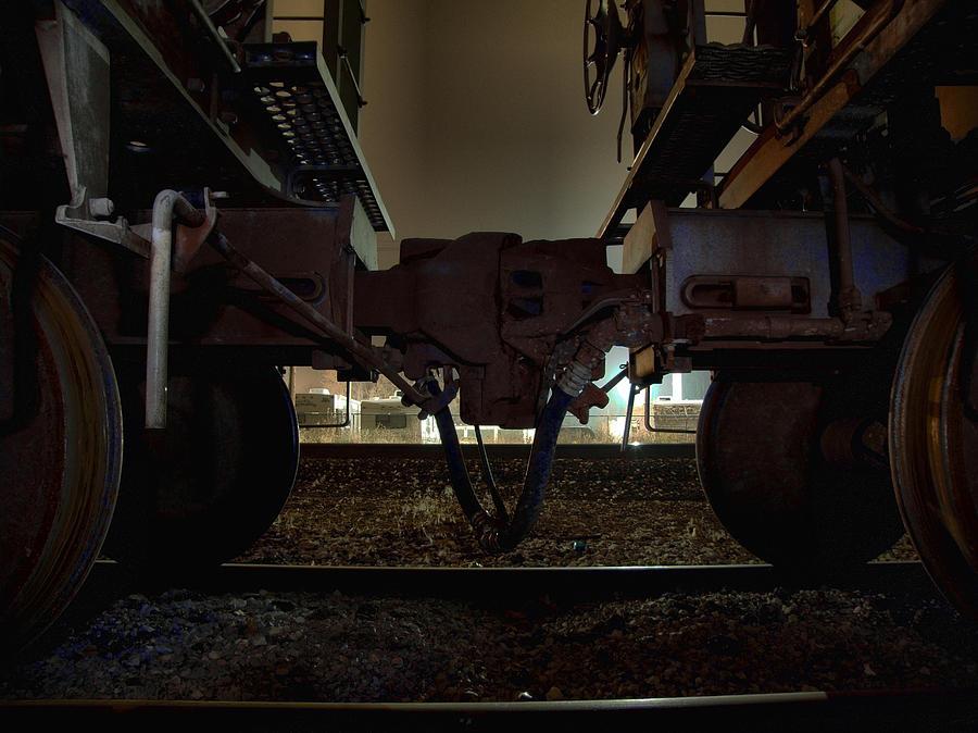 Train Photograph - Coupling by Scott Hovind