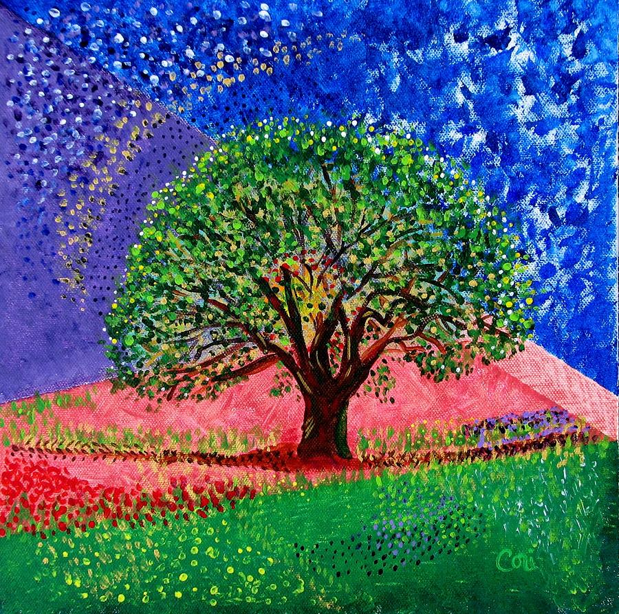 Tree Painting - Courage by Corinne Carroll