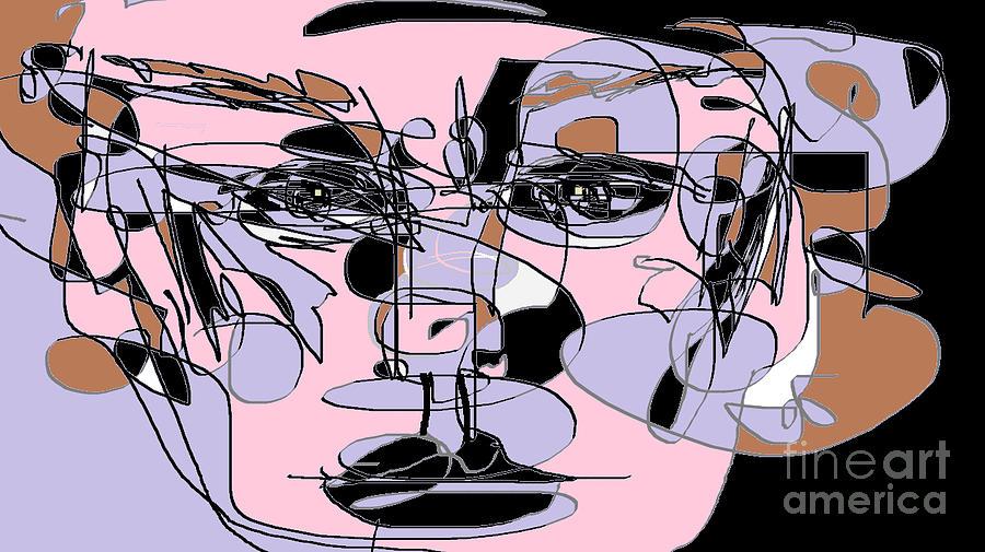 Female Portrait Digital Art - Courage by Nancy Kane Chapman