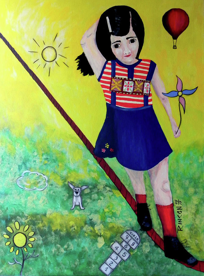 Inner Child Mixed Media - Courage by Sandra Rincon