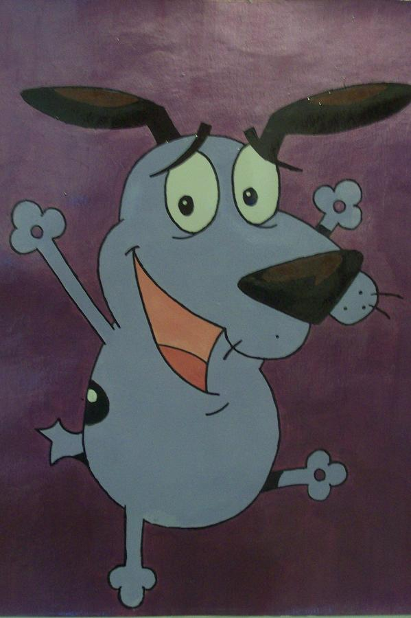 Courage The Cowardly Dog Painting By Jasmine Hall