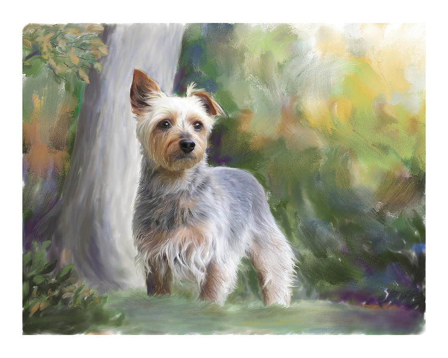 Dog Painting - Courageous Curiosity by Connie Moses
