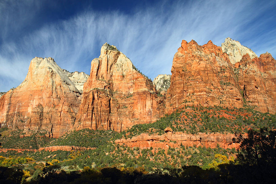 Zion Photograph - Court Of The Patriarch In Zion by Pierre Leclerc Photography