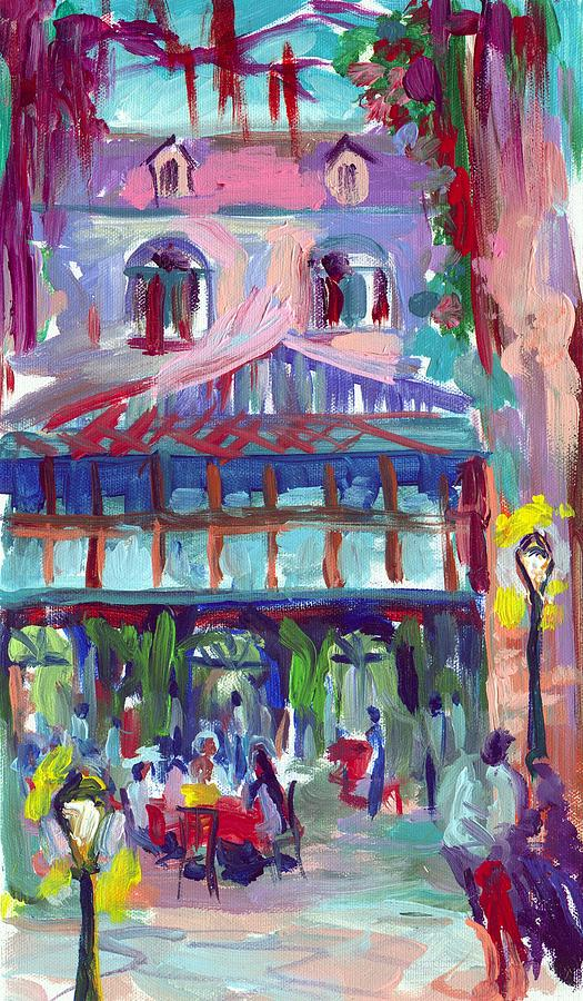 New Orleans Painting - Court Of Two Sisters by Saundra Bolen Samuel