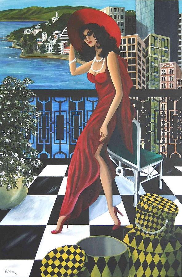 Art Deco Painting - Courtenay by Rosie Harper