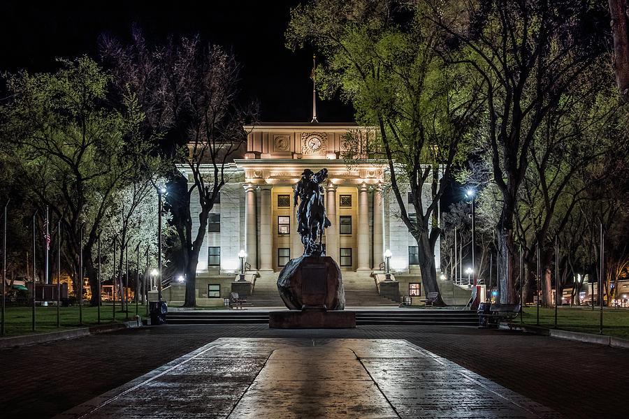 Courthouse at Night Prescott Arizona by Glenn DiPaola