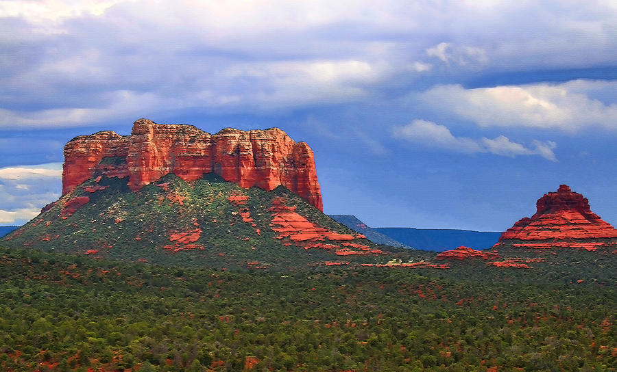 Courthouse Butte and Bell Rock  by Ola Allen