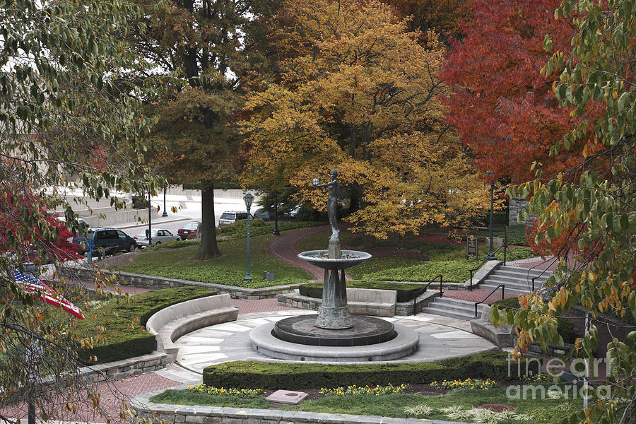Autumn Photograph - Courthouse Square In Rockville Maryland by William Kuta