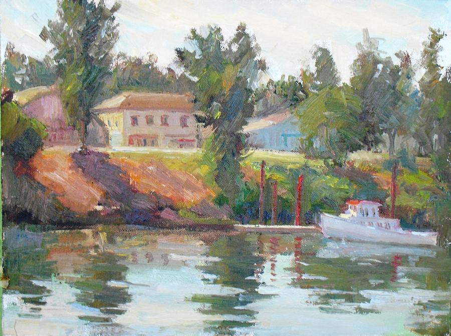 River Painting - Courtland View by Patris M