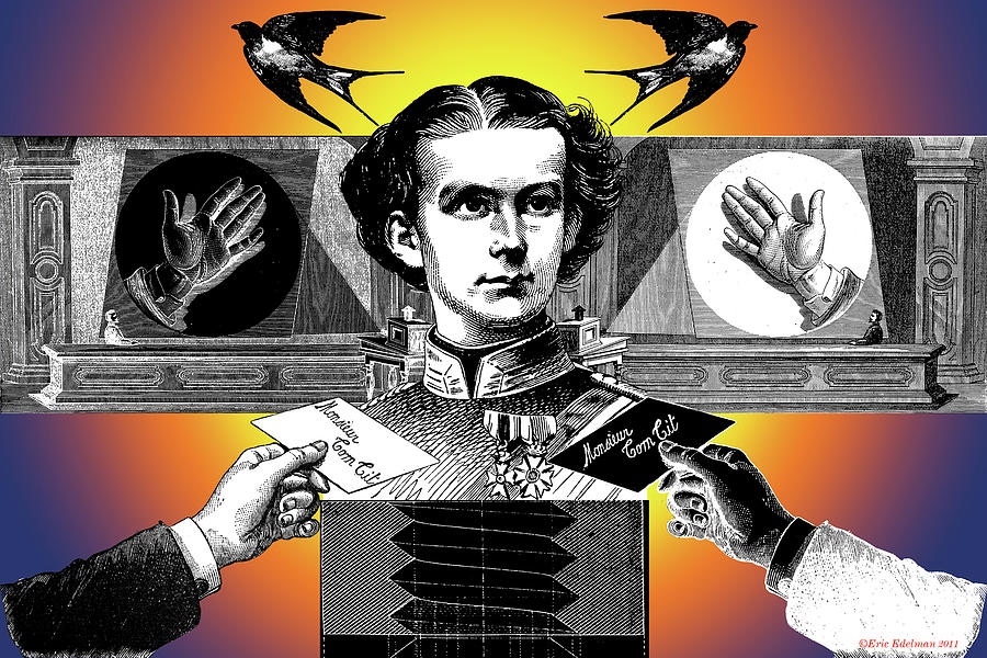 Ludwig Ii Of Bavaria Digital Art - Courtship Of X The Unknown by Eric Edelman