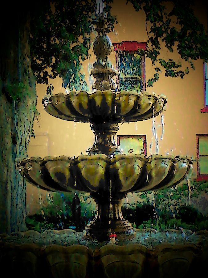 Courtyard Fountain by Michael L Kimble