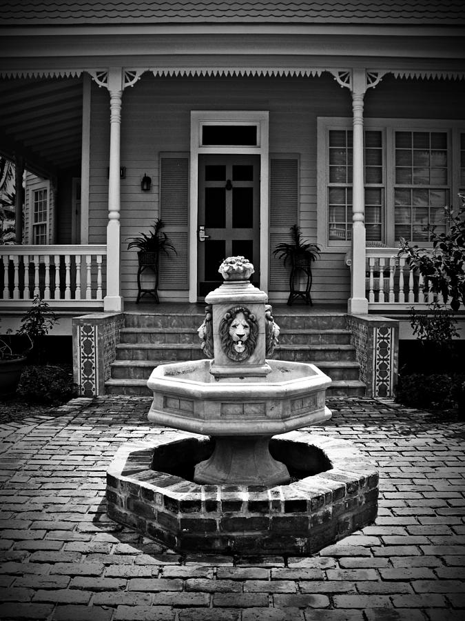 Courtyard Photograph - Courtyard Fountain by Perry Webster