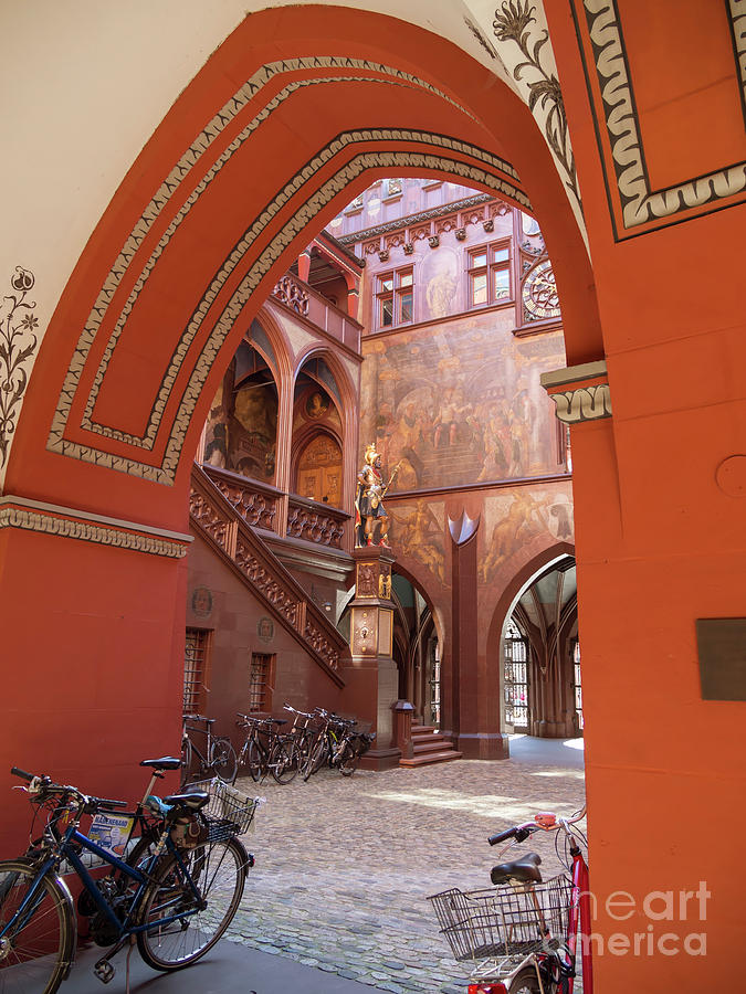 Courtyard Photograph - Courtyard Of Basel Town Hall by Louise Heusinkveld