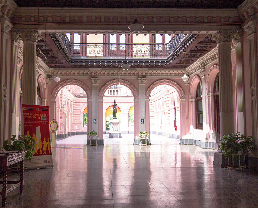 Courtyard Photograph - Courtyard Of The Central Post Office, Lima Peru by Amy Sorvillo