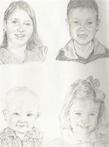 Cousins Drawing - Cousins by Mark Keisling