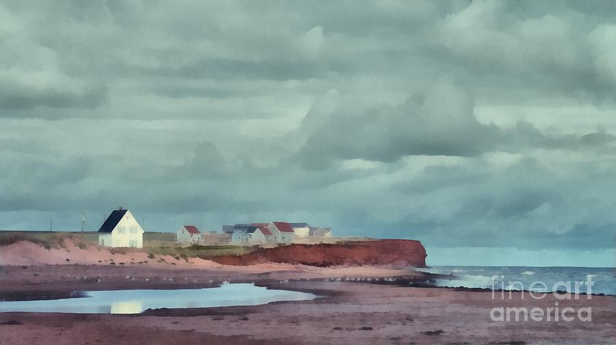 Landscape Painting - Cousins Shore Prince Edward Island Landscape by Edward Fielding
