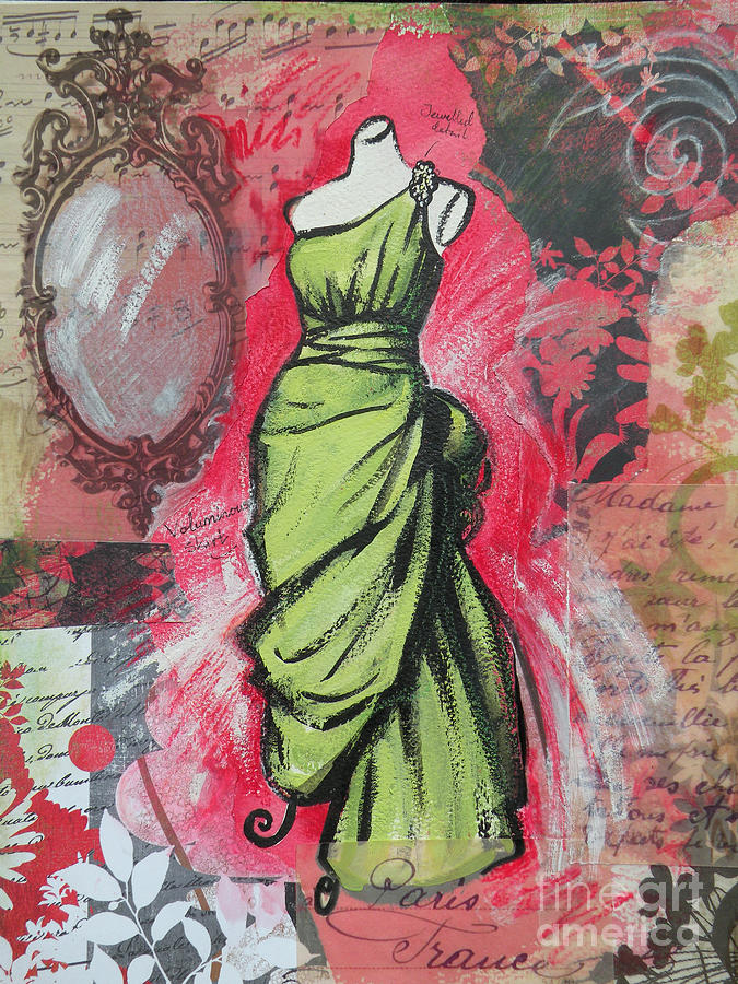 Fashion Painting - Couture II by Leigh Banks