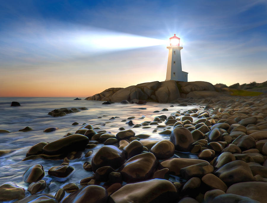 Peggy's Painting - Cove Light by James Charles