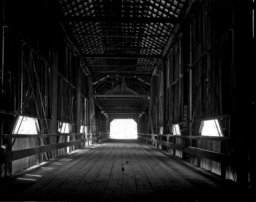 Covered Bridge Photograph - Covered Bridge In Chico California by Jeffrey  Sinnock