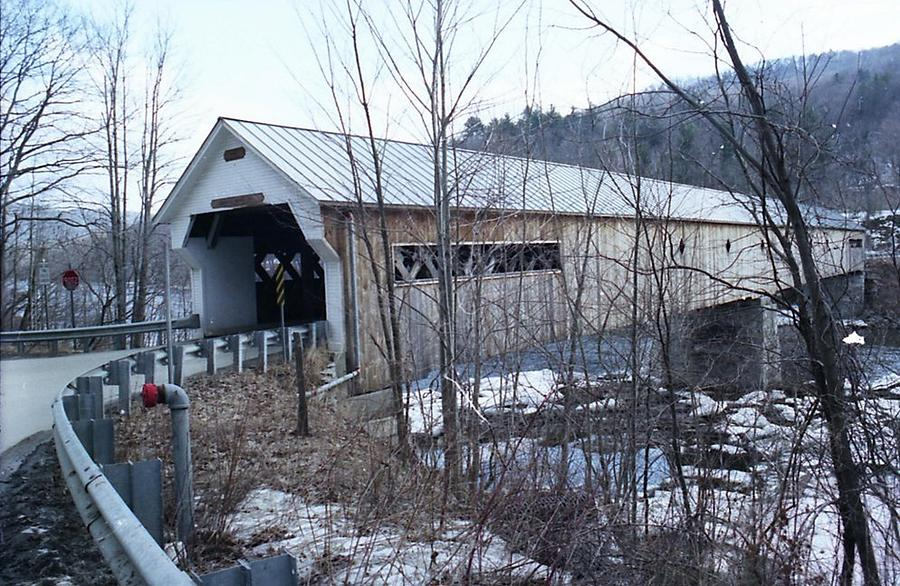 Snow Photograph - Covered Bridge In Southern Vermont by John Power