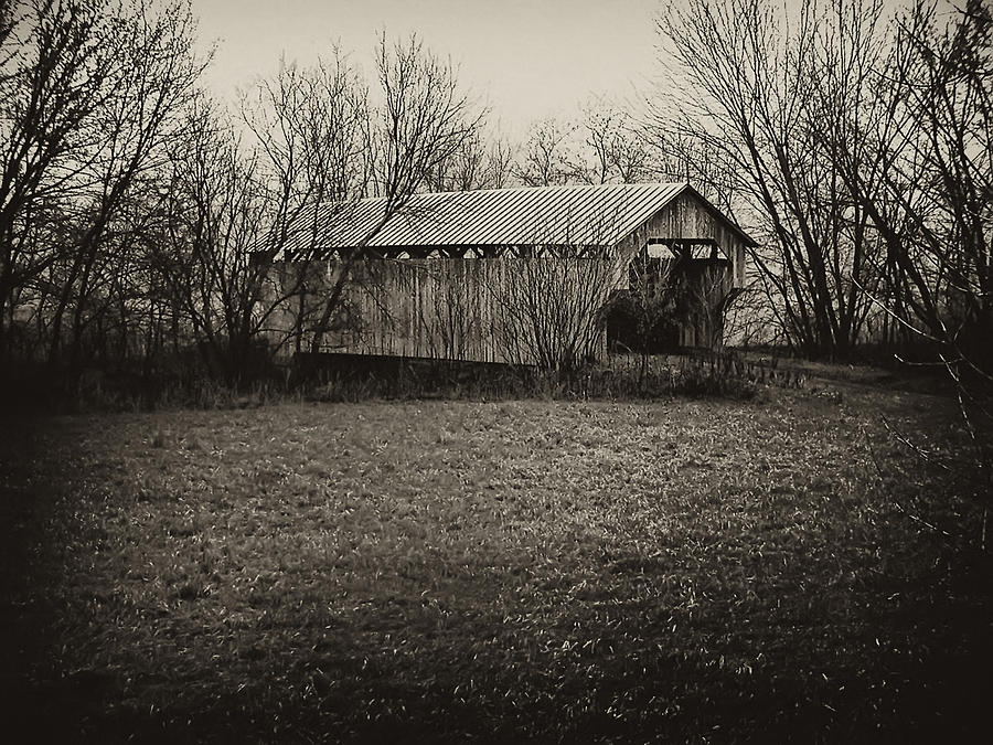 Covered Bridge Photograph - Covered Bridge In Upstate New York by Bill Cannon
