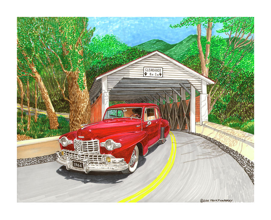 Covered Bridge Lincoln Painting by Jack Pumphrey