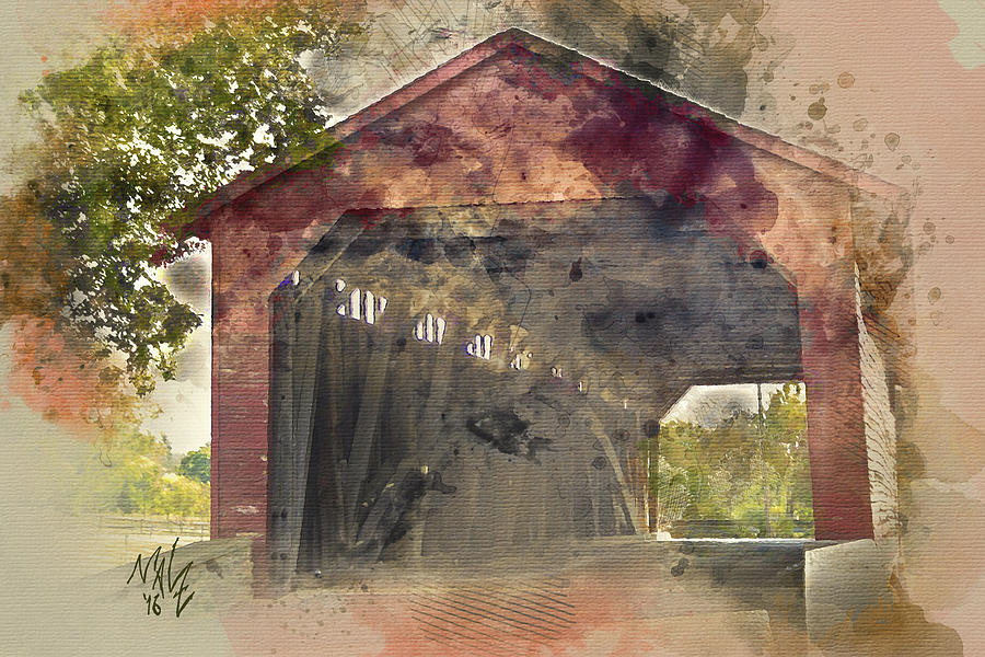 Utica Mills Covered Bridge by Mal-Z