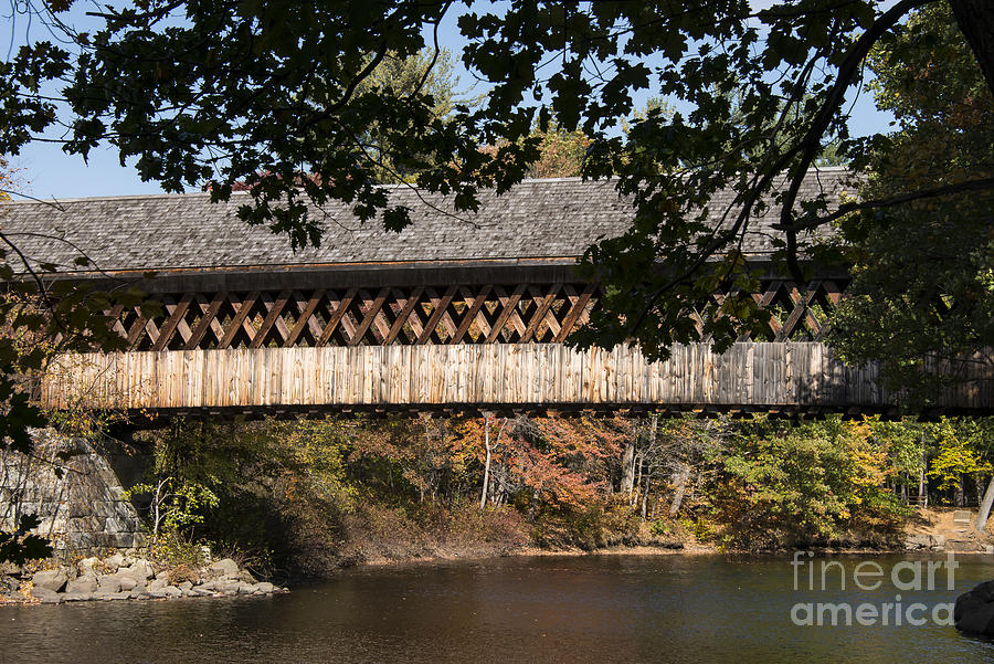 Covered Bridge Over The Contoocook River Photograph by Bob Phillips