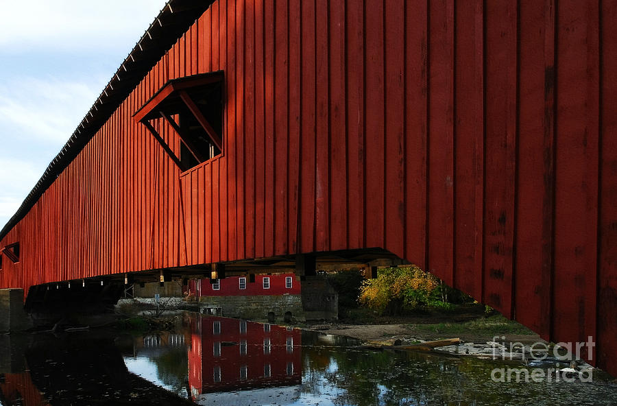 Covered Bridges Photograph - Covered Bridge Reflections by Mel Steinhauer