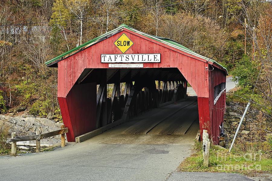 Americana Photograph - Covered Bridge Vermont by John Greim