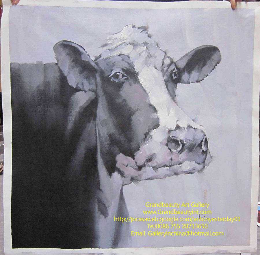 Cow Painting - Cow 3 by Darren