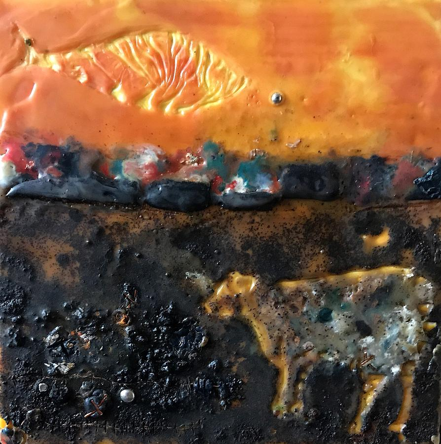 Cow And Fish Pyroclasm Painting