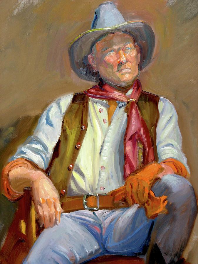 Cowboy Painting - Cow-boy At Rest by Dominique Amendola