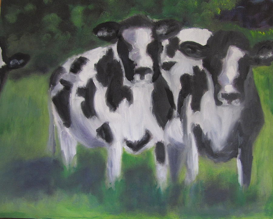 Cow Painting - Cow Pad by Jenell Richards