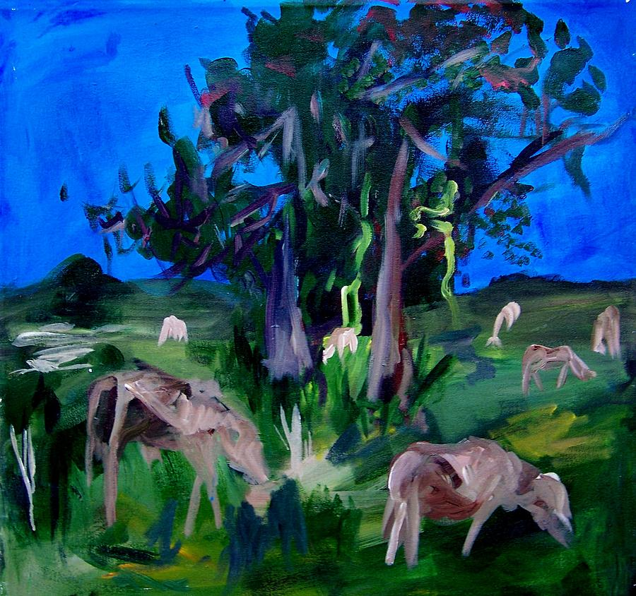 Painting Painting - Cow Pasture   Neptune Road by Ellen Seymour