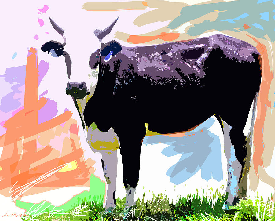 Cows Painting - Cow Time by David Lloyd Glover