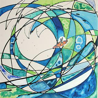 Surfers Painting - Cowabunga by Dan Koon
