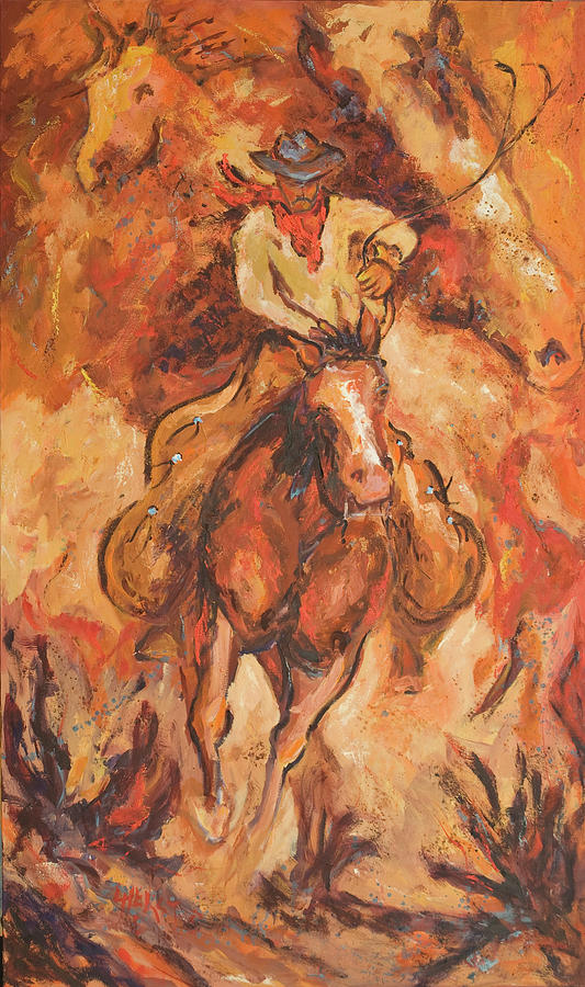 Cowboy Abstract II by LC Herst