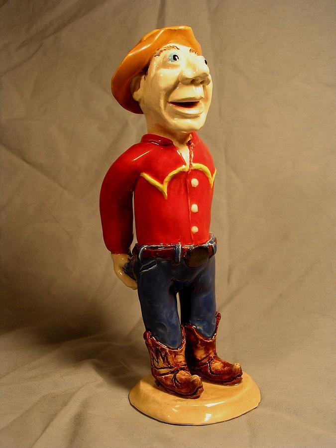Cowboy Sculpture - Cowboy by Bob Dann