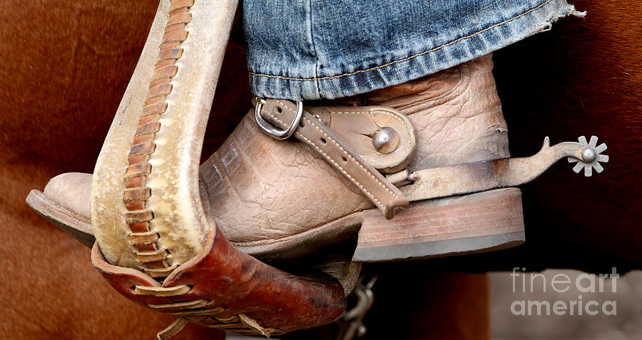 Cowboy Photograph - Cowboy Boot by Peter Boonisar
