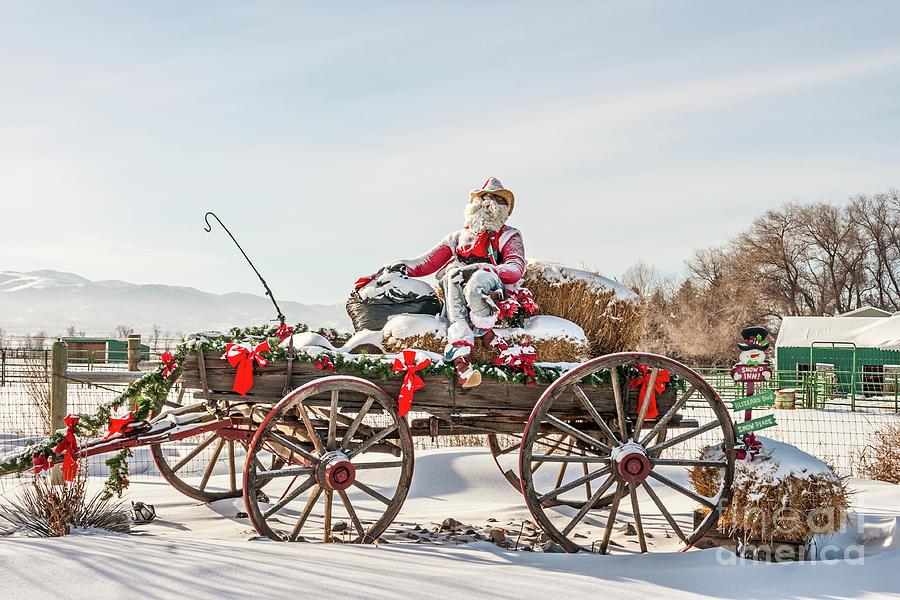 Cowboy Santa Taking a Quick Break by Sue Smith