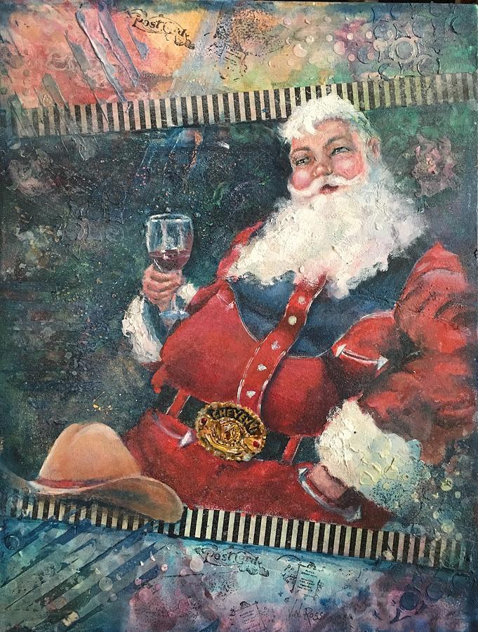 Cowboy Santa by Vicki Ross