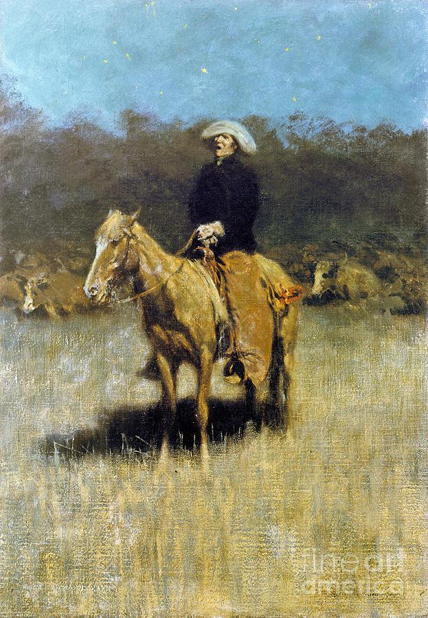 Cowboy Singing Photograph By Granger