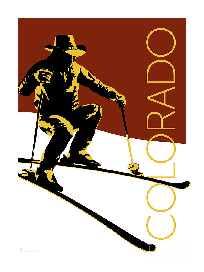 COLORADO Cowboy Skier by Sam Brennan
