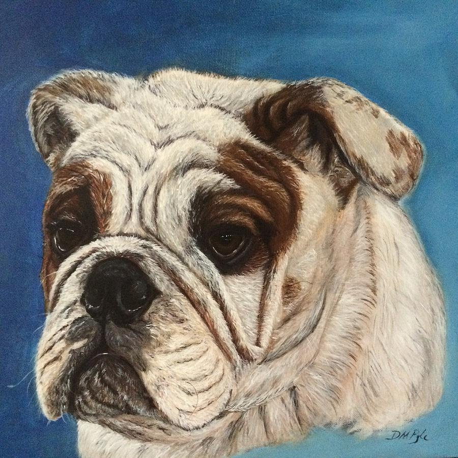 Cowboy The Bulldog Painting By Darlene Pyle