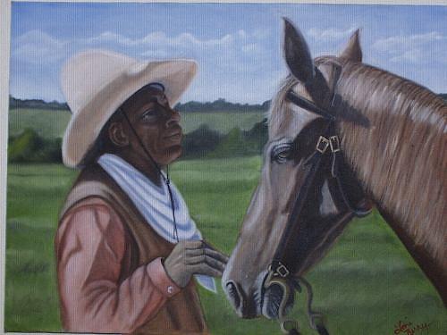 Portrait Painting - Cowboy2 by Toni Berry