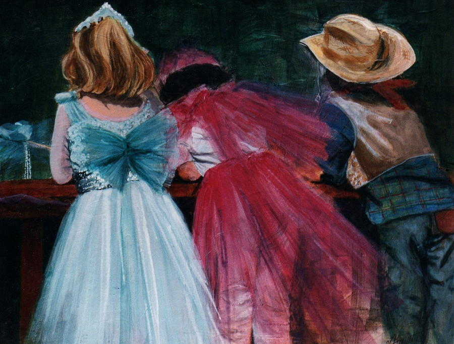 Cowboy Painting - Cowboys And Queens by Victoria Heryet