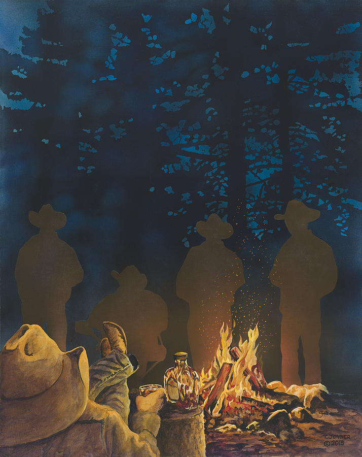 Cowboys Campfires and Crown by Tim  Joyner